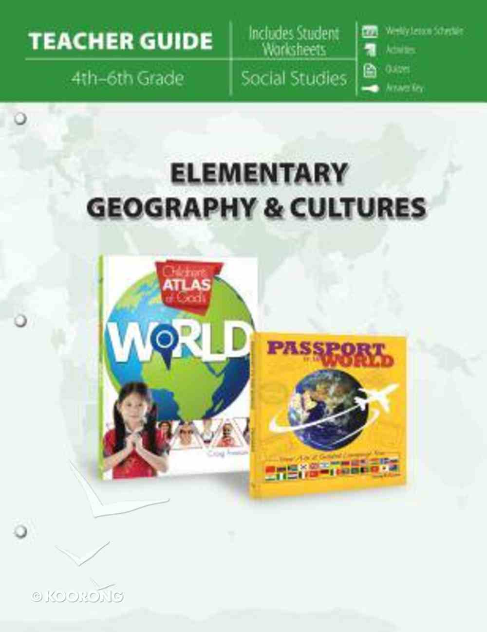 Elementary Geography & Cultures Parent Lesson Planner Paperback