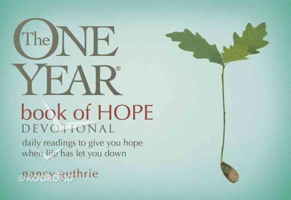 The One Year Book of Hope Devotional Paperback