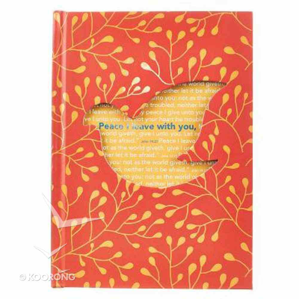 Die-Cut Journal: Peace I Leave With You (Dove/orange) Hardback