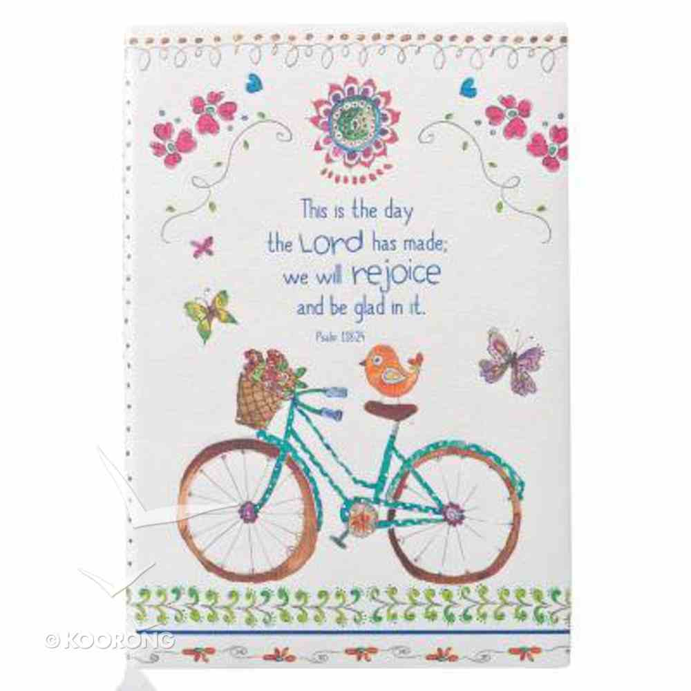 Silky-Soft Printed Journal: This is the Day Bicycle Luxleather Imitation Leather