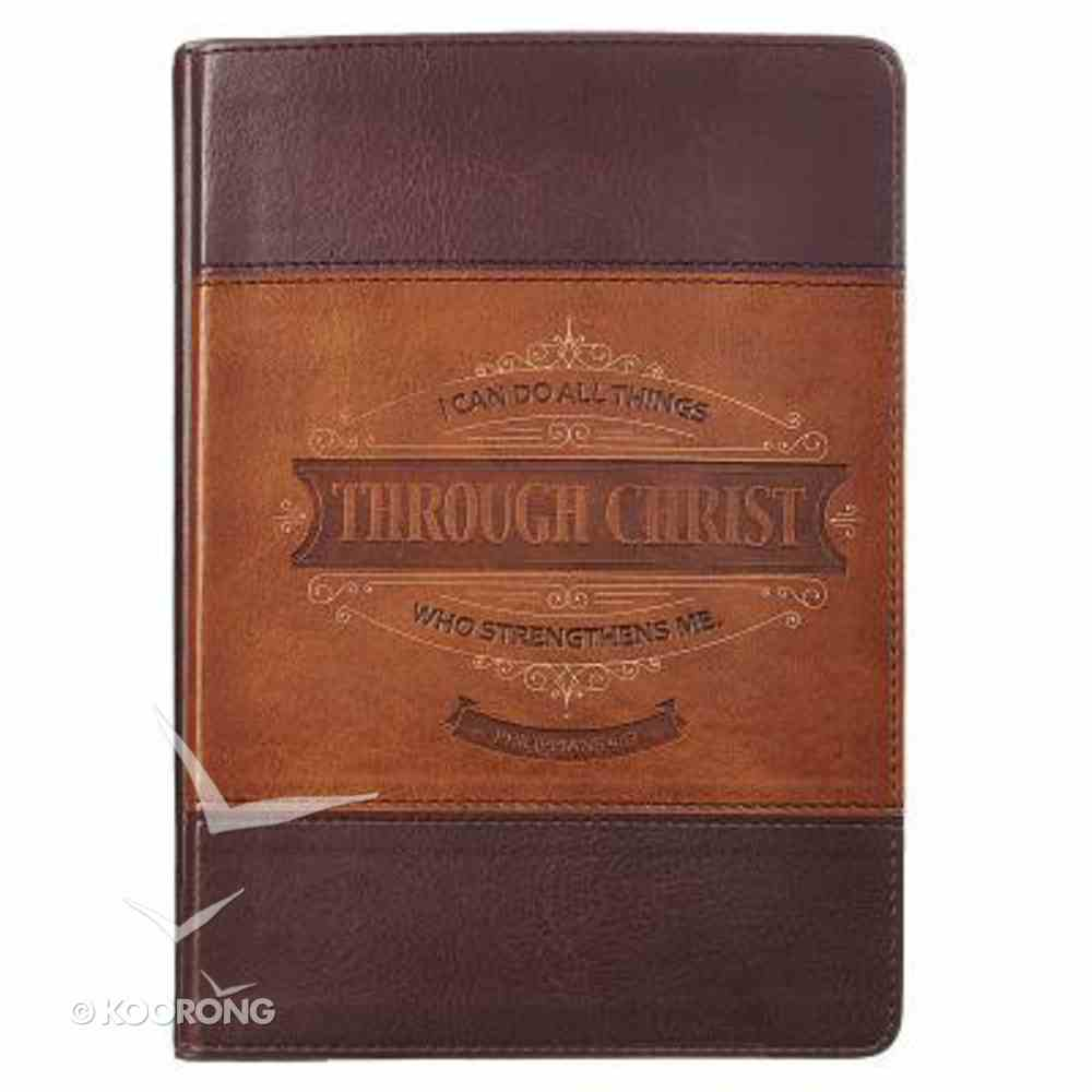 Classic Journal: Through Christ (Tan/light Brown Luxleather) Imitation Leather