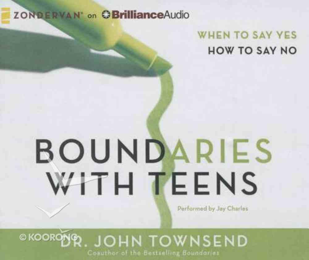 Boundaries With Teens (Unabridged, 8 Cds) CD