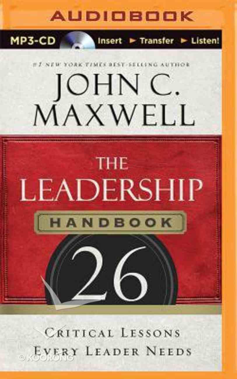 The Leadership Handbook (Unabridged, Mp3) CD