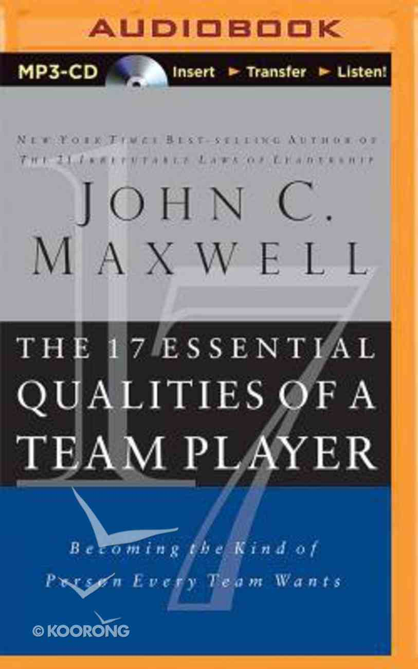 The 17 Essential Qualities of a Team Player (Abridged, Mp3) CD