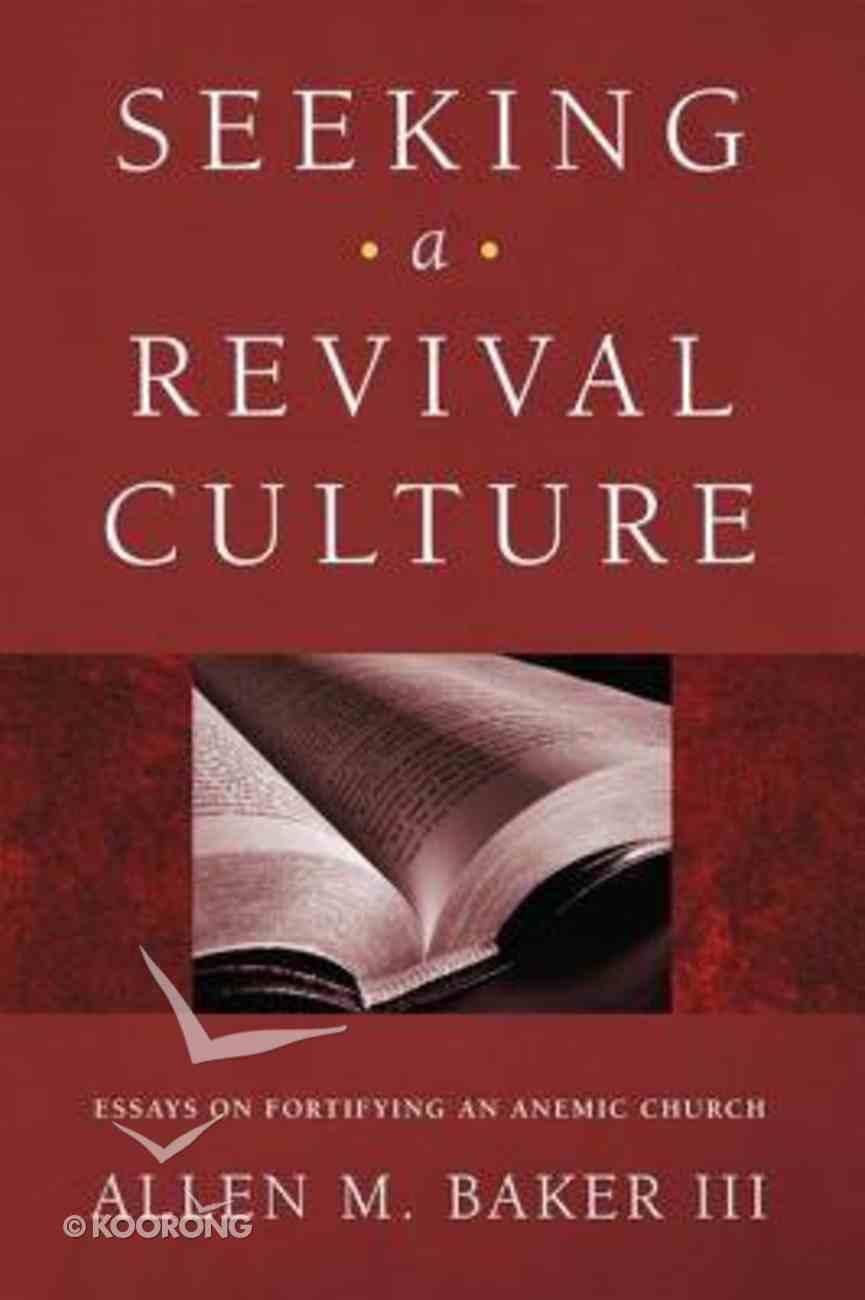 Seeking a Revival Culture eBook
