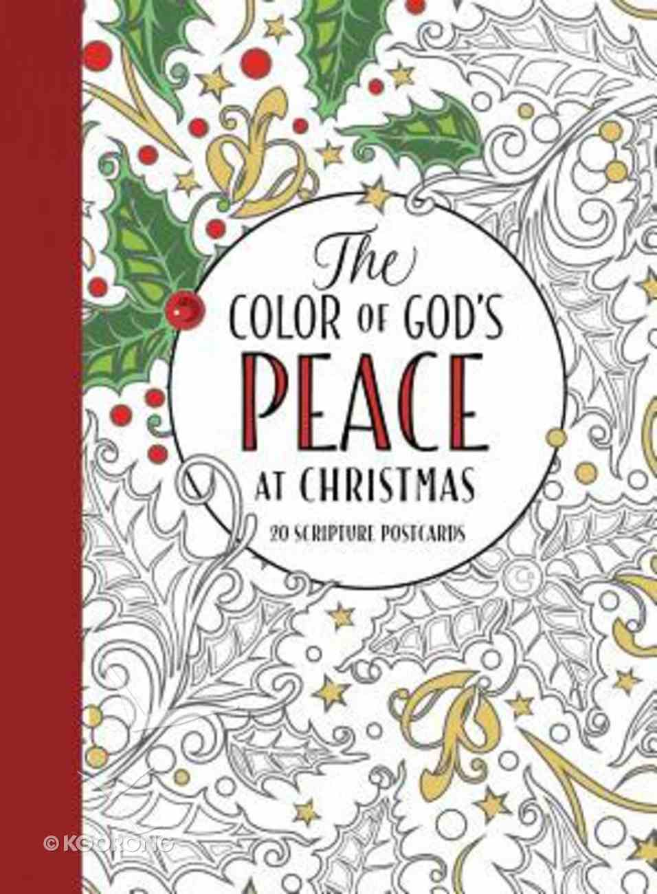 The Color of God's Peace At Christmas (Adult Coloring Books Series) Paperback