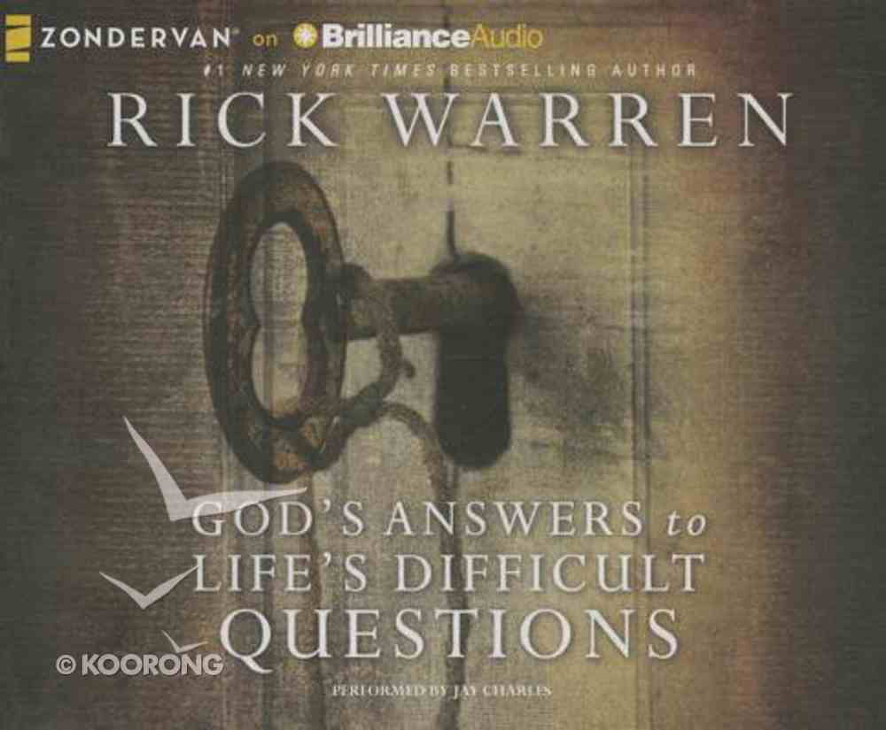 God's Answers to Life's Difficult Questions (Unabridged, 3 Cds) CD