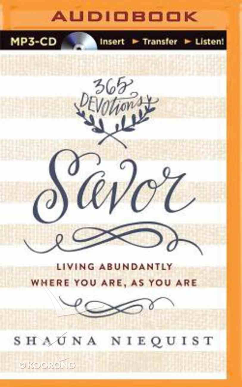 Savor (Unabridged, Mp3) CD