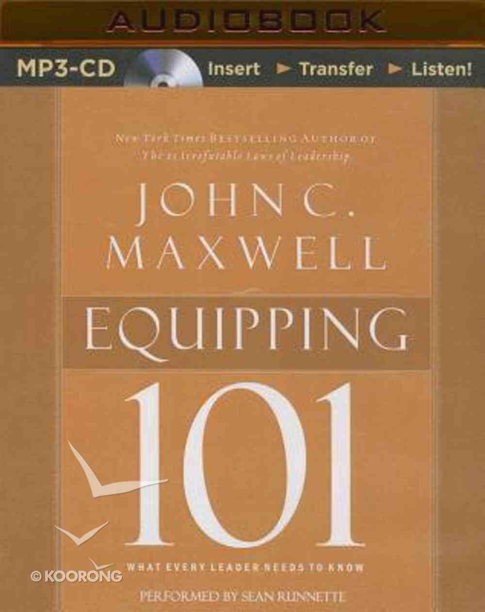 Equipping 101 (Unabridged, Mp3) CD