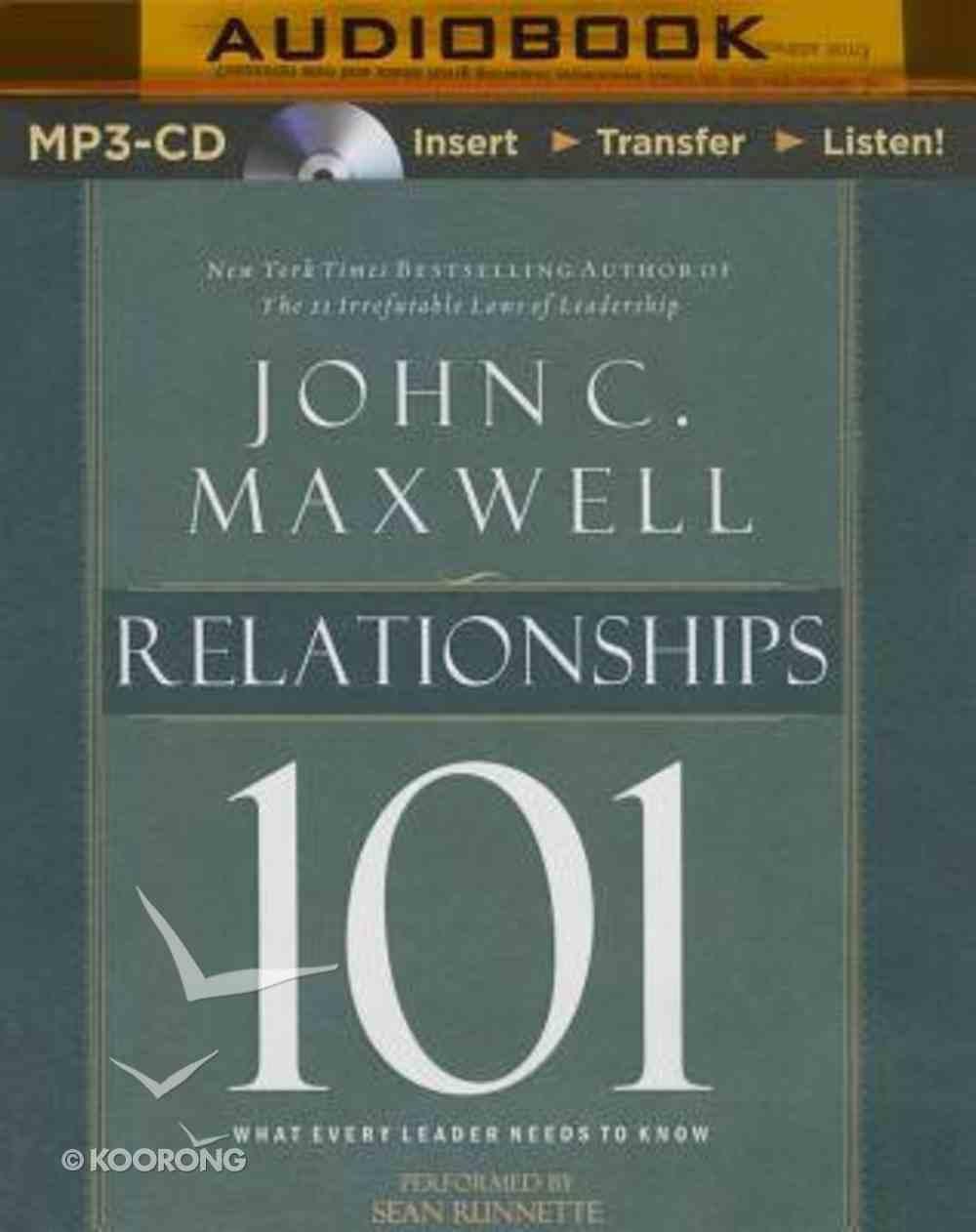 Relationships 101 (Unabridged, Mp3) CD