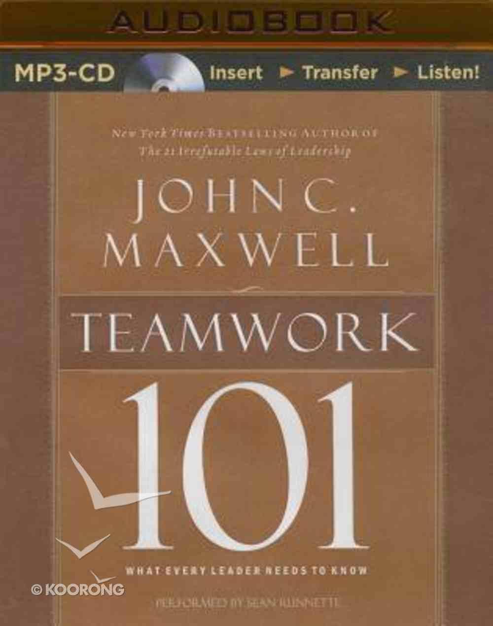 Teamwork 101 (Unabridged, Mp3) CD