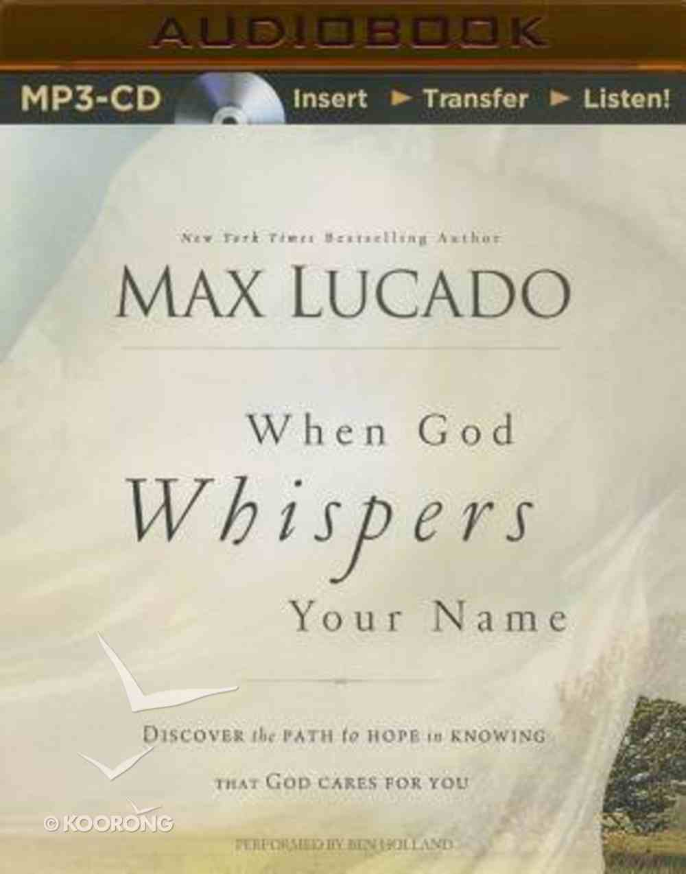 When God Whispers Your Name (Unabridged, Mp3) CD