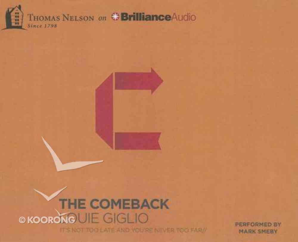 The Comeback (Unabridged, 6 Cds) CD