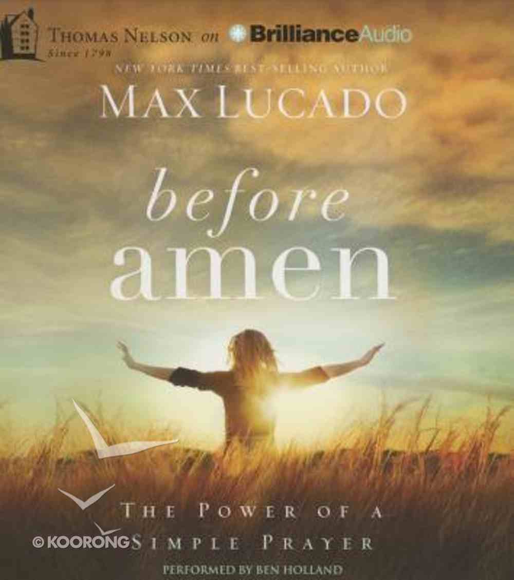 Before Amen (Unabridged, 2 Cds) CD
