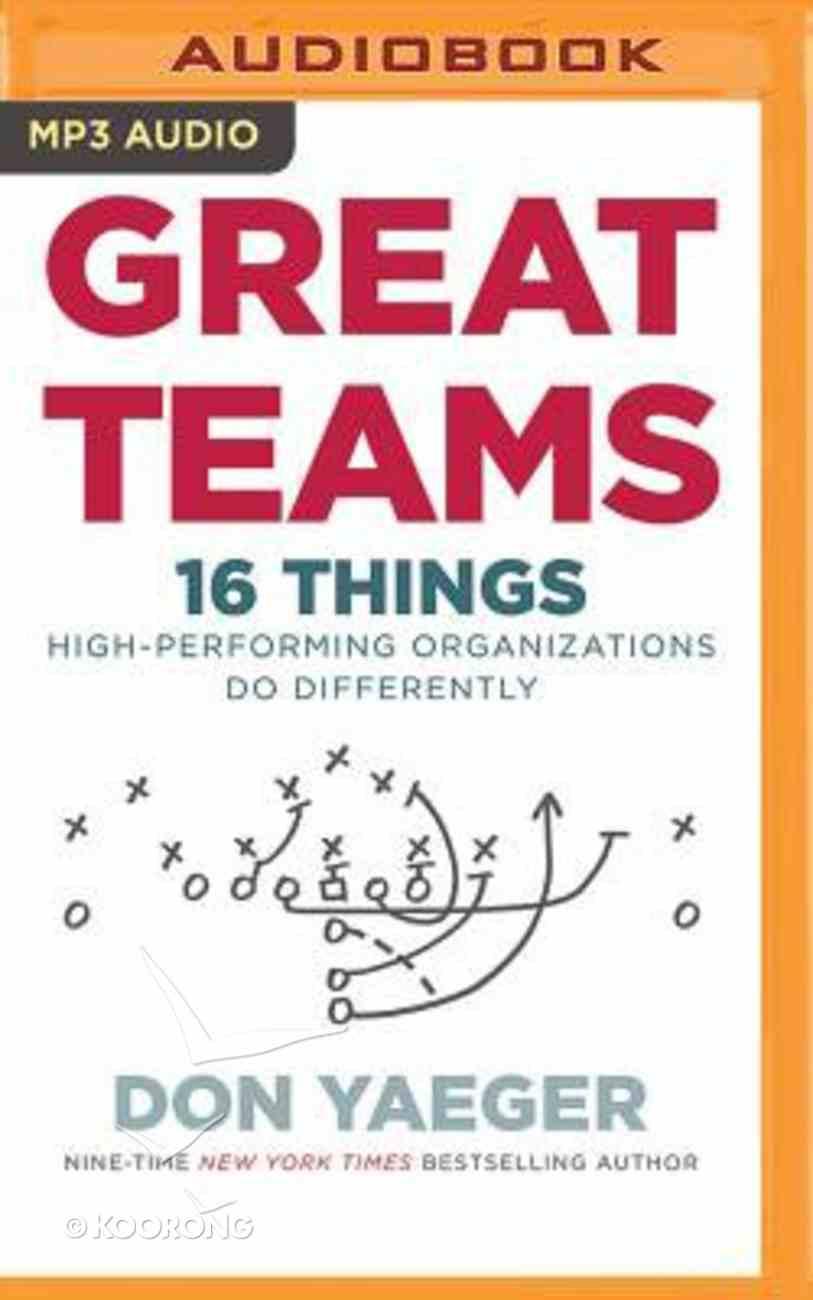 Great Teams (Unabridged, Mp3) CD