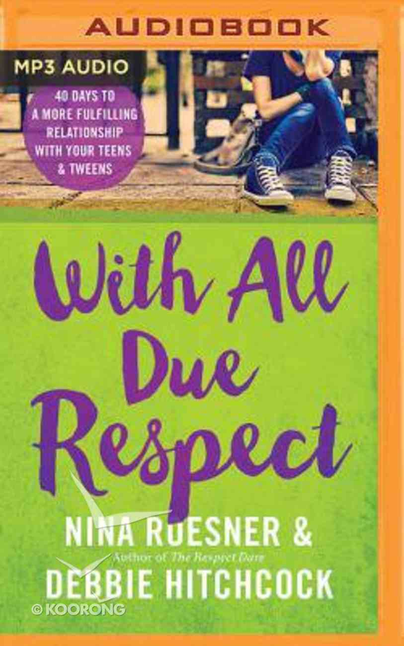 With All Due Respect (Unabridged, Mp3) CD