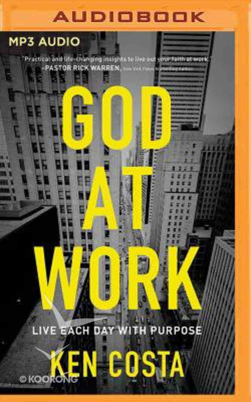 God At Work (Unabridged, Mp3) CD