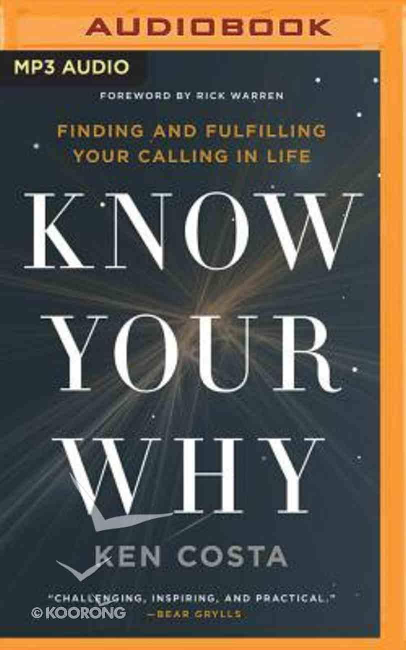 Know Your Why (Unabridged, Mp3) CD