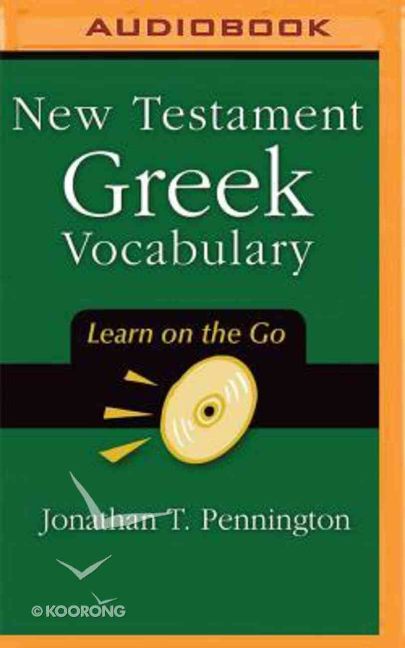 New Testament Greek Vocabulary (Unabridged, Mp3) CD