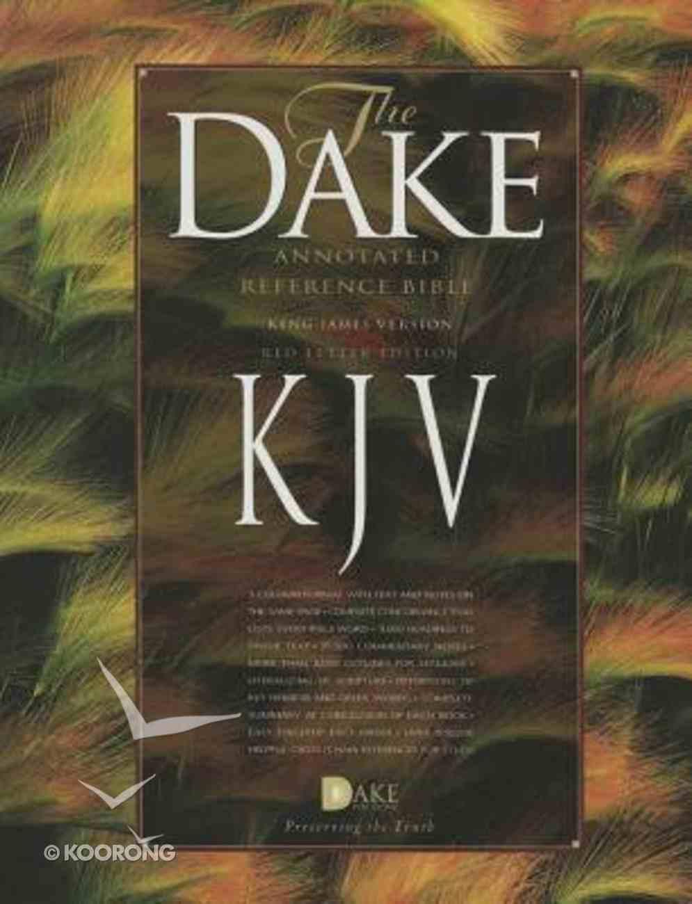 KJV Dake's Annotated Bible Burgundy Bonded Leather