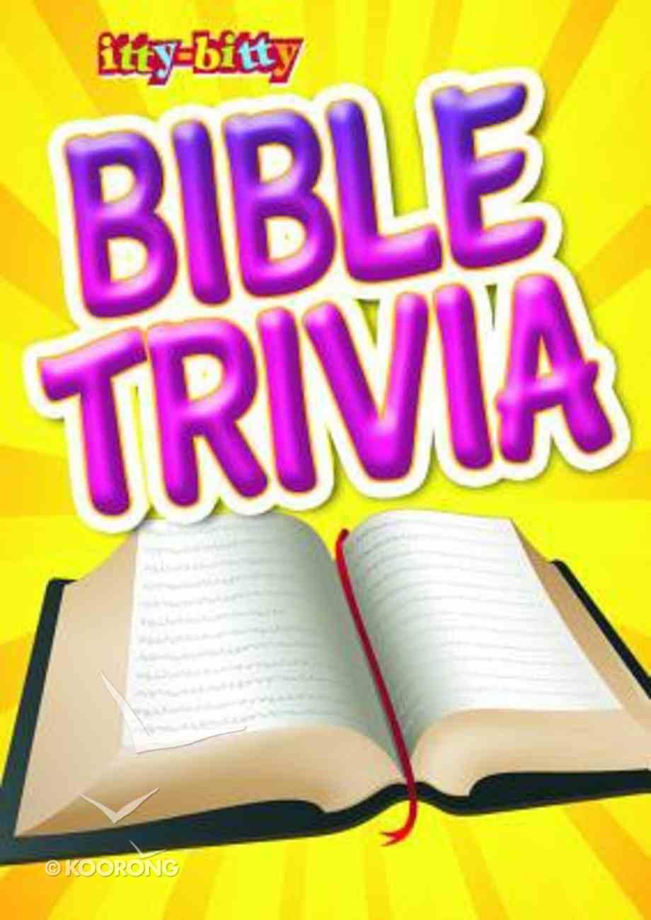 Activity Book Bible Trivia (Itty Bitty Bible Series) Paperback