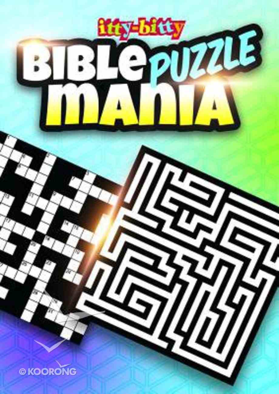 Activity Book Bible Puzzle Mania (Itty Bitty Bible Series) Paperback