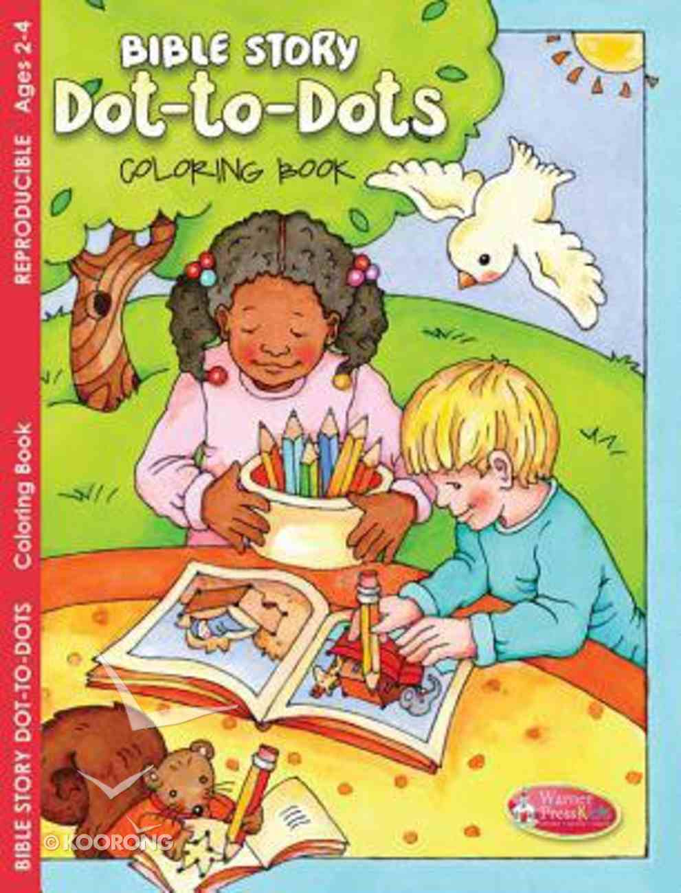 Bible Story Dot-To-Dots Coloring Book (Ages 2-4) (Warner Press Colouring/activity Under 5's Series) Paperback