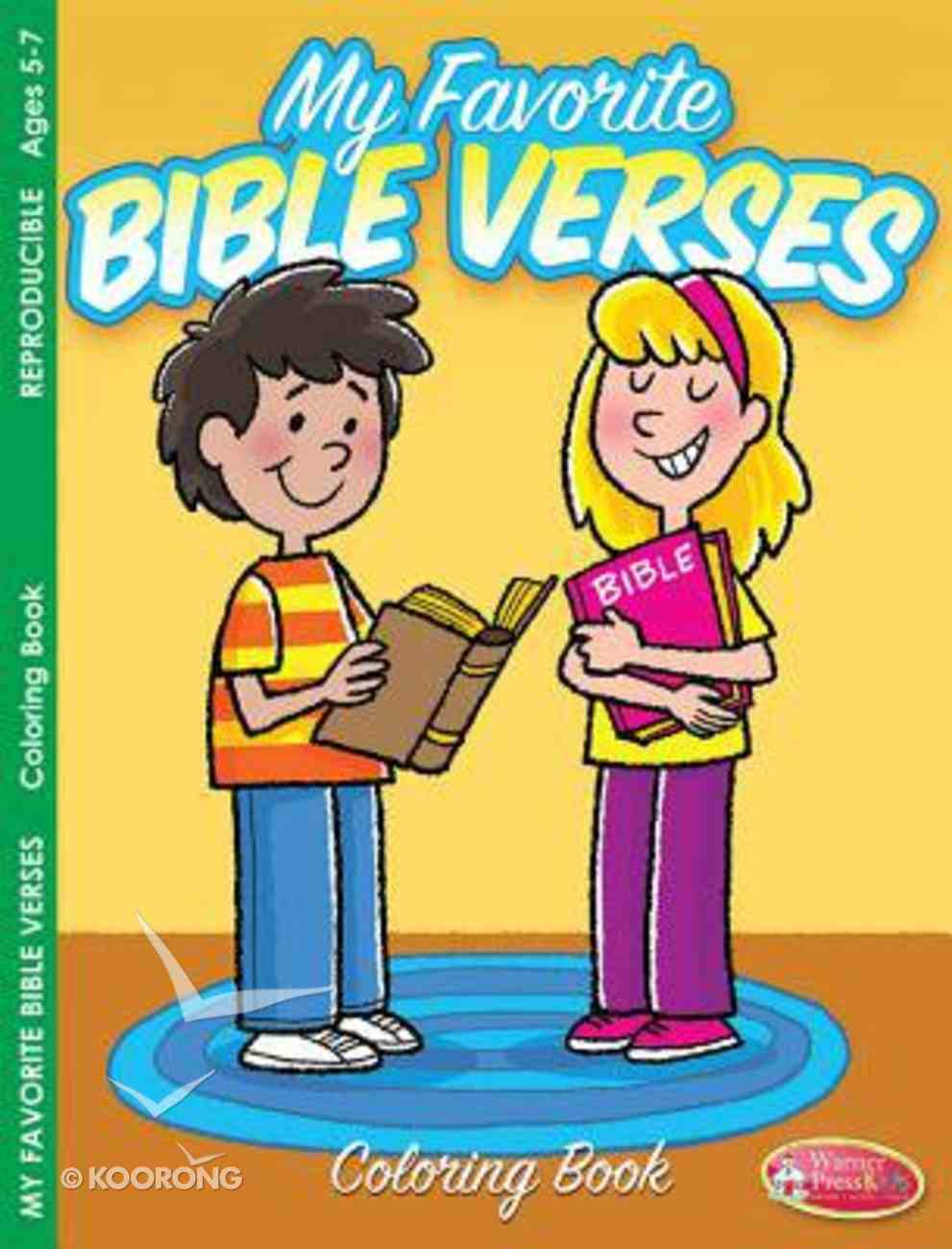 My Favorite Bible Verses Coloring Book (Ages 5-7, Reproducible) (Warner Press Colouring & Activity Books Series) Paperback