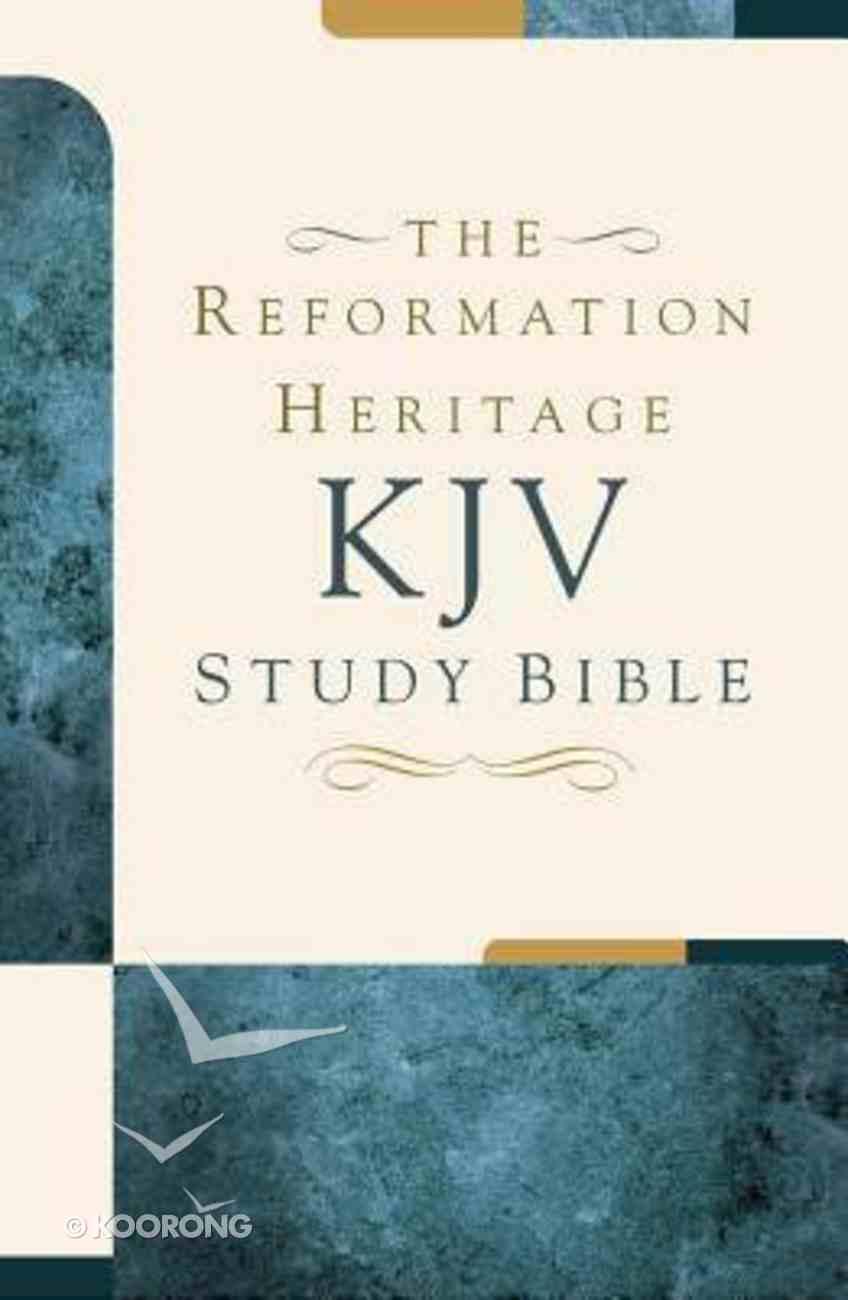 KJV Reformation Heritage Study Bible Black Premium Imitation Leather