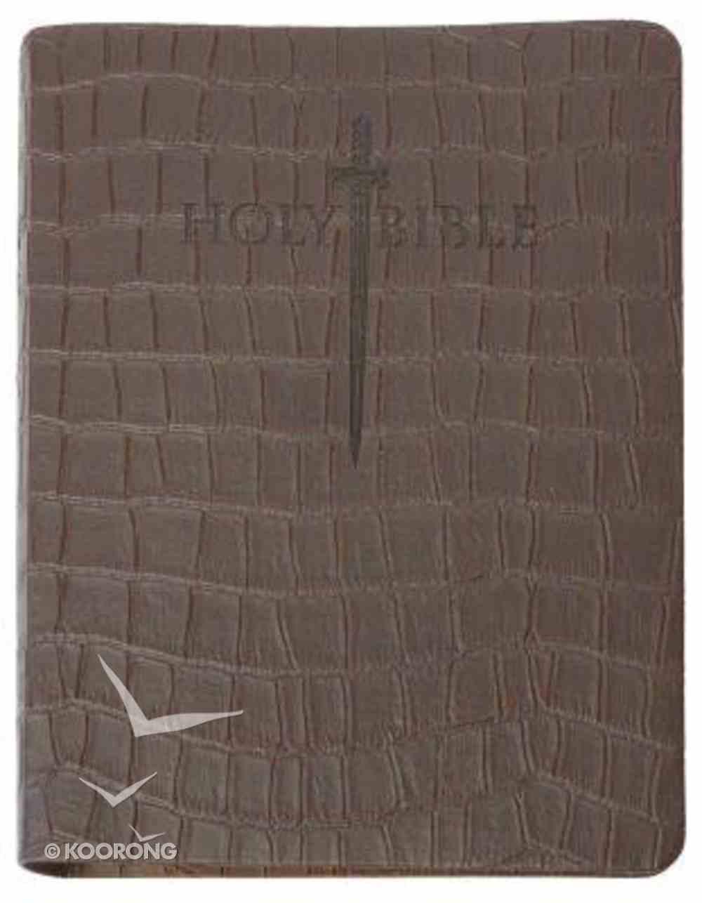 KJV Sword Study Bible Personal Size Large Print Brown T-Rex Ultrasoft Genuine Leather