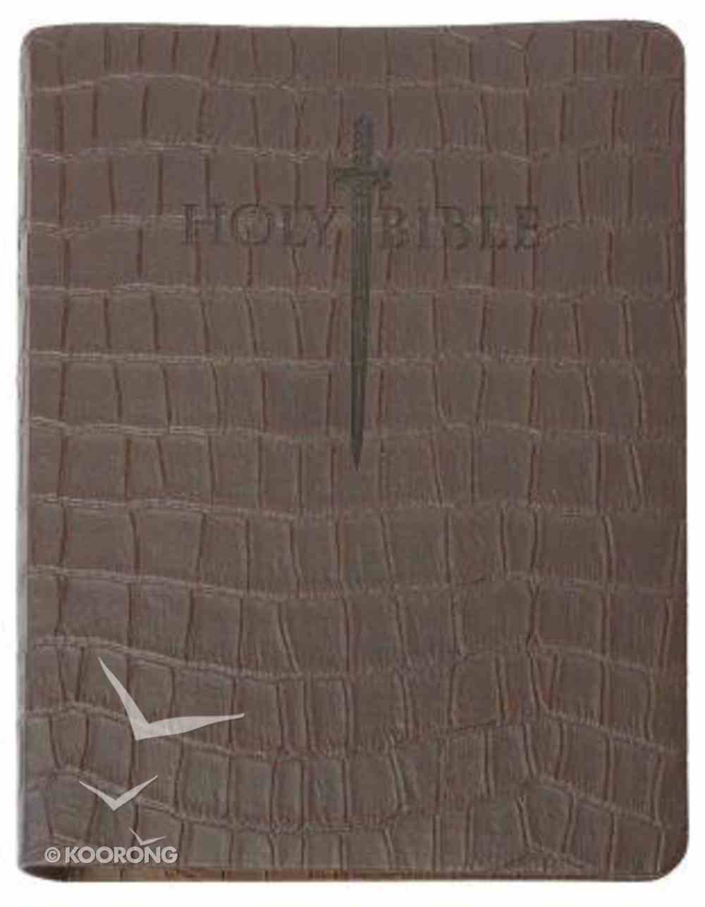 KJV Sword Study Bible Giant Print Brown T-Rex Ultrasoft Indexed Genuine Leather