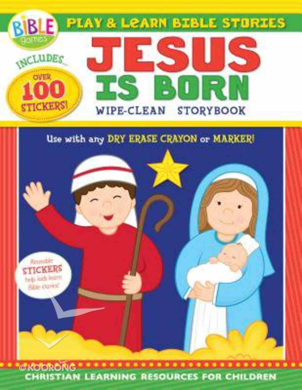 Wipe Clean Storybook: Play and Learn Bible Stories - Jesus is Born Paperback