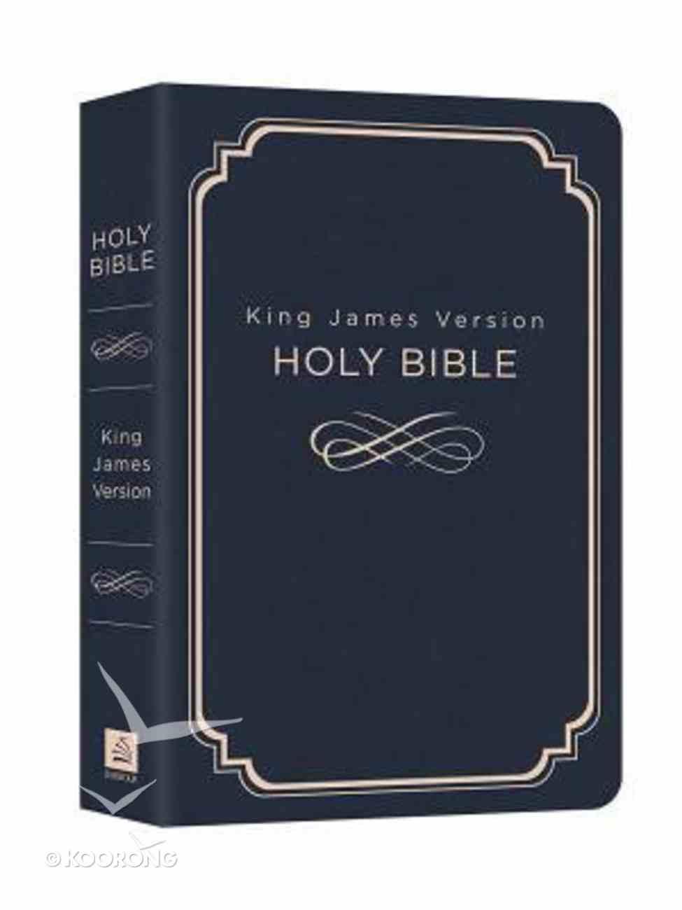 KJV Deluxe Gift & Award Navy Blue Paperback