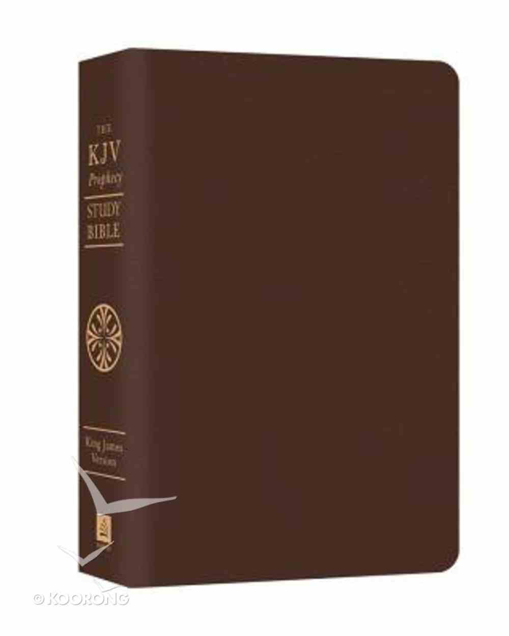 KJV Prophecy Study Bible Brown Bonded Leather