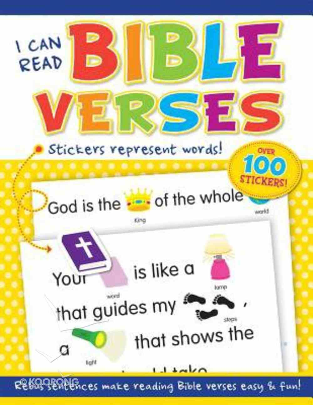 I Can Read Bible Verses (With Over 100 Stickers) Paperback