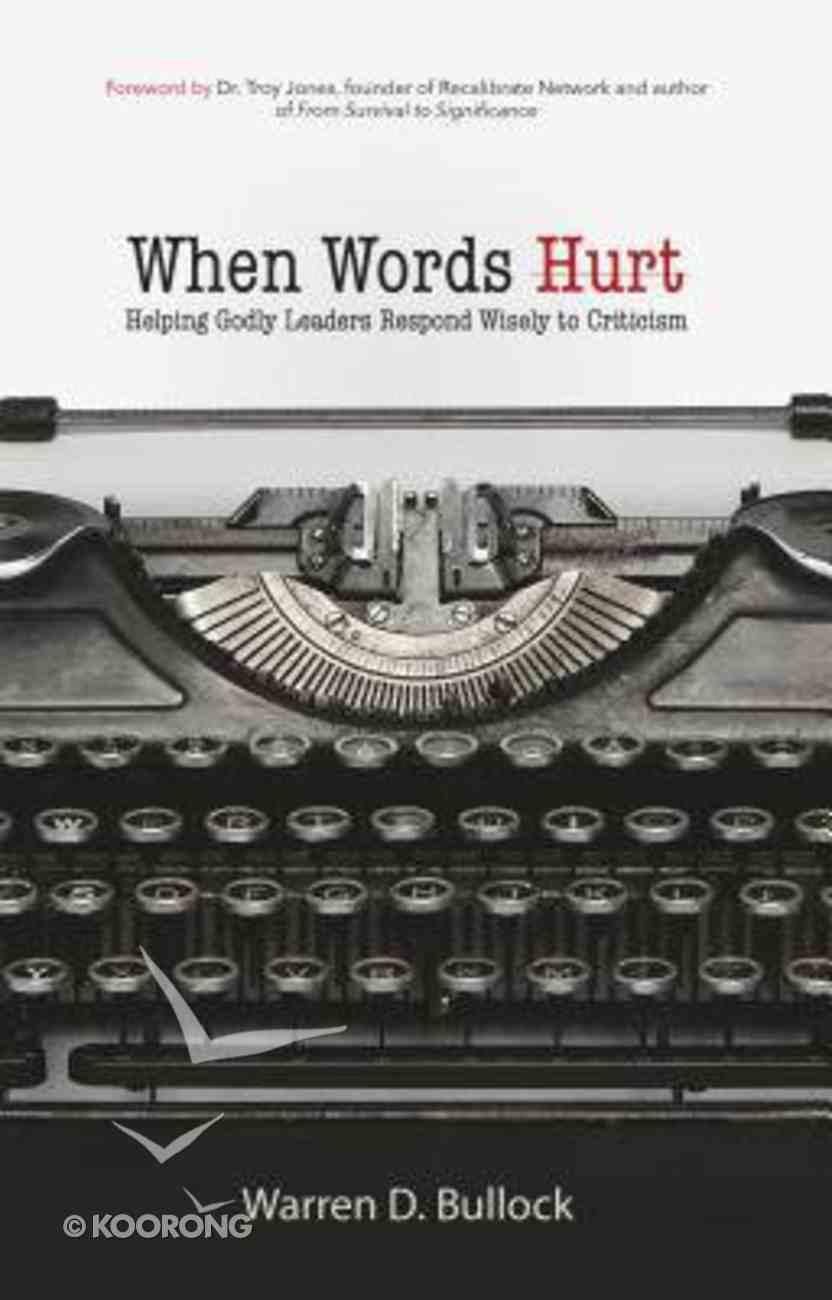When Words Hurt Paperback