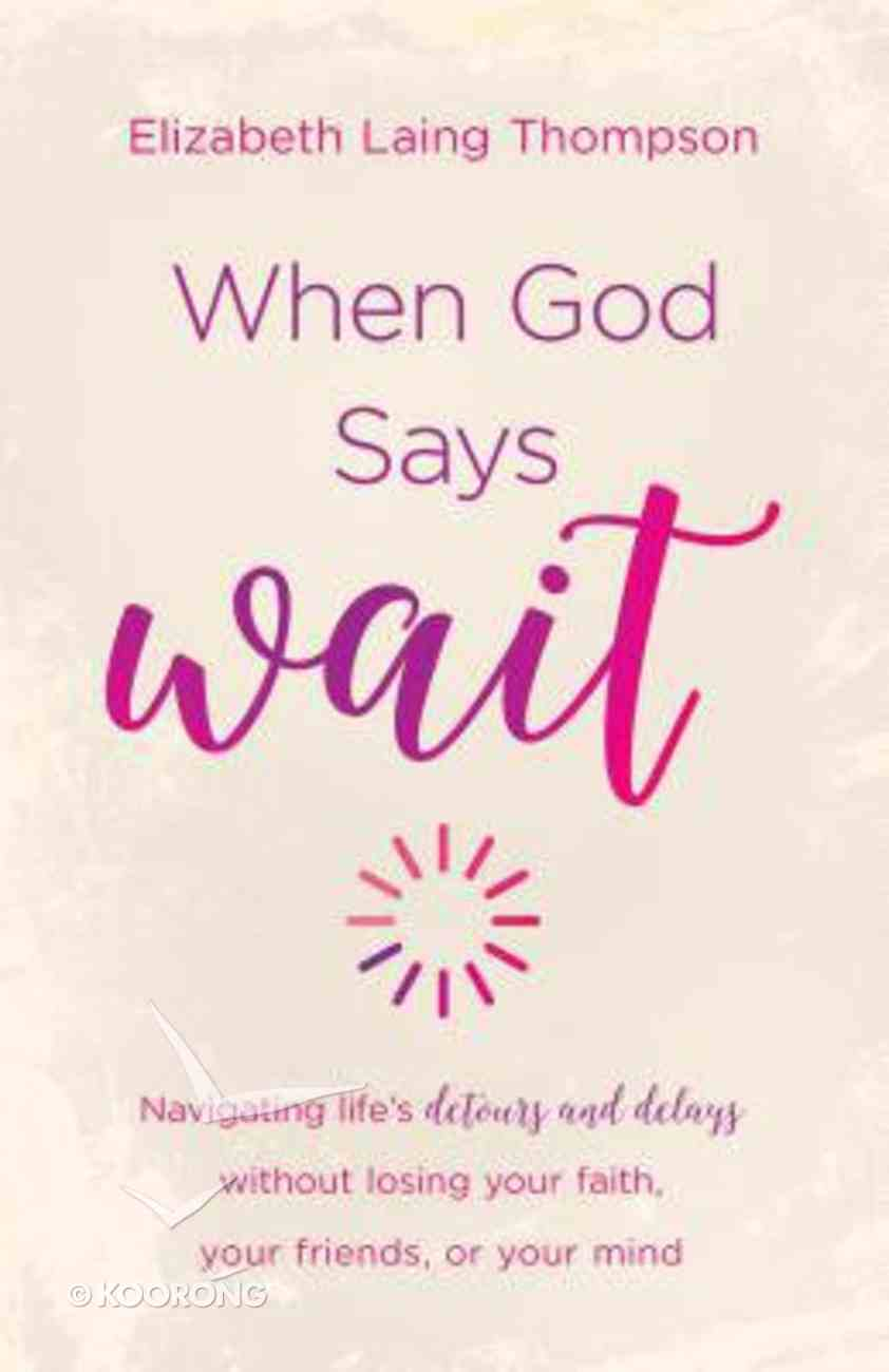 """When God Says """"Wait"""": Navigating Lifes Detours and Delays Without Losing Your Faith, Your Friends, Or Your Mind Paperback"""