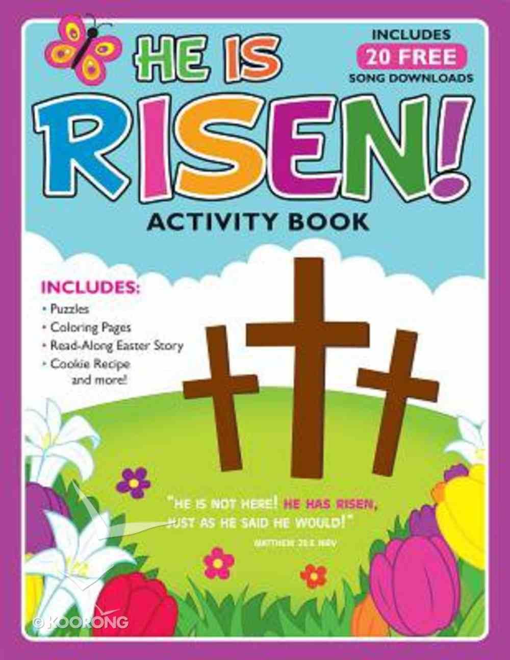 Activity Book: He is Risen! (Free Album Download) Paperback
