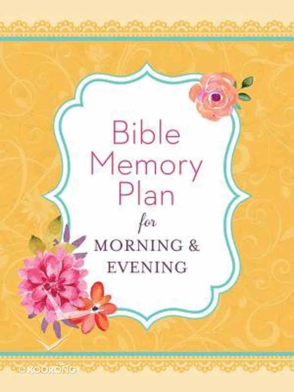 Bible Memory Plan For Morning & Evening Paperback