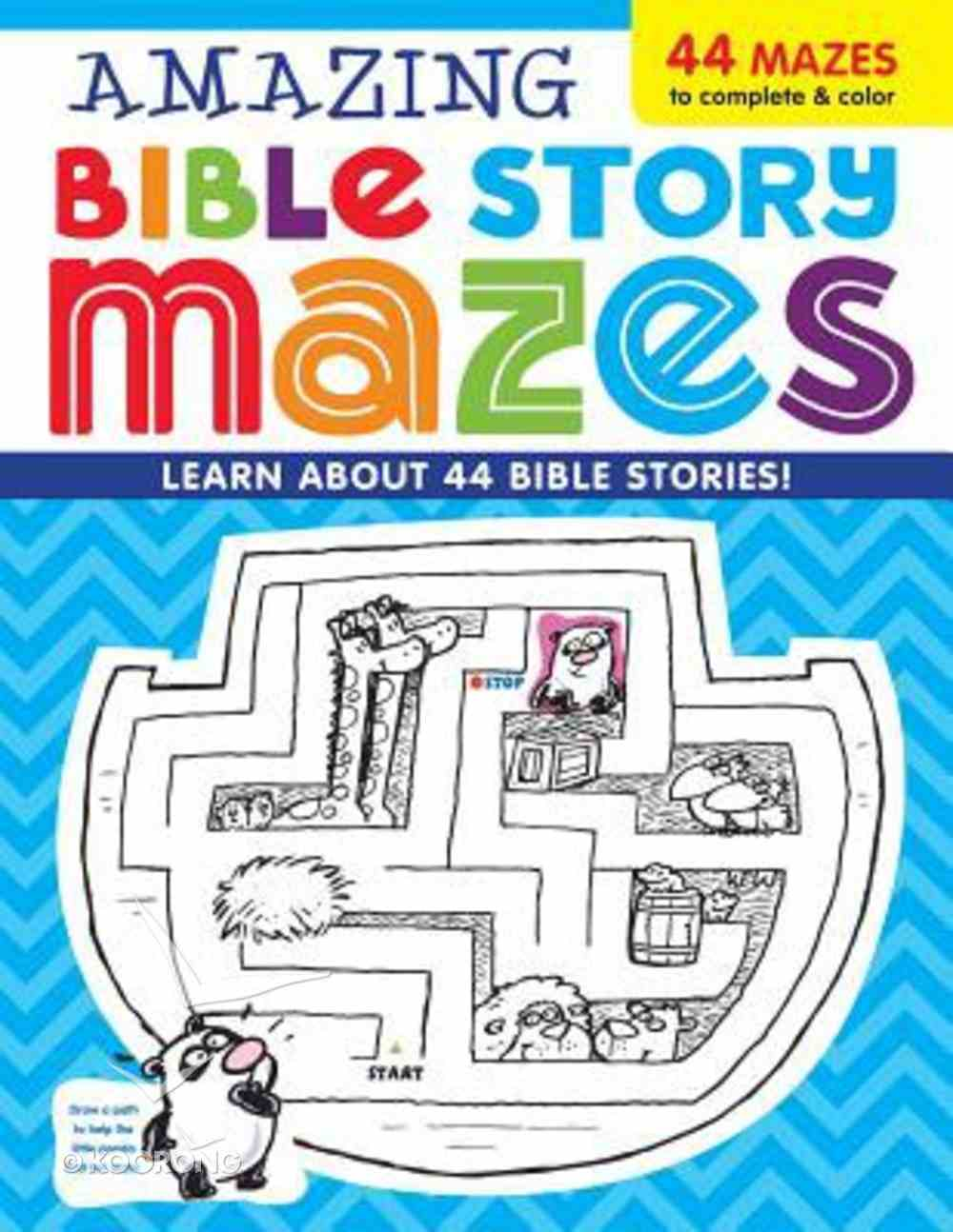 Amazing Bible Story Mazes Paperback