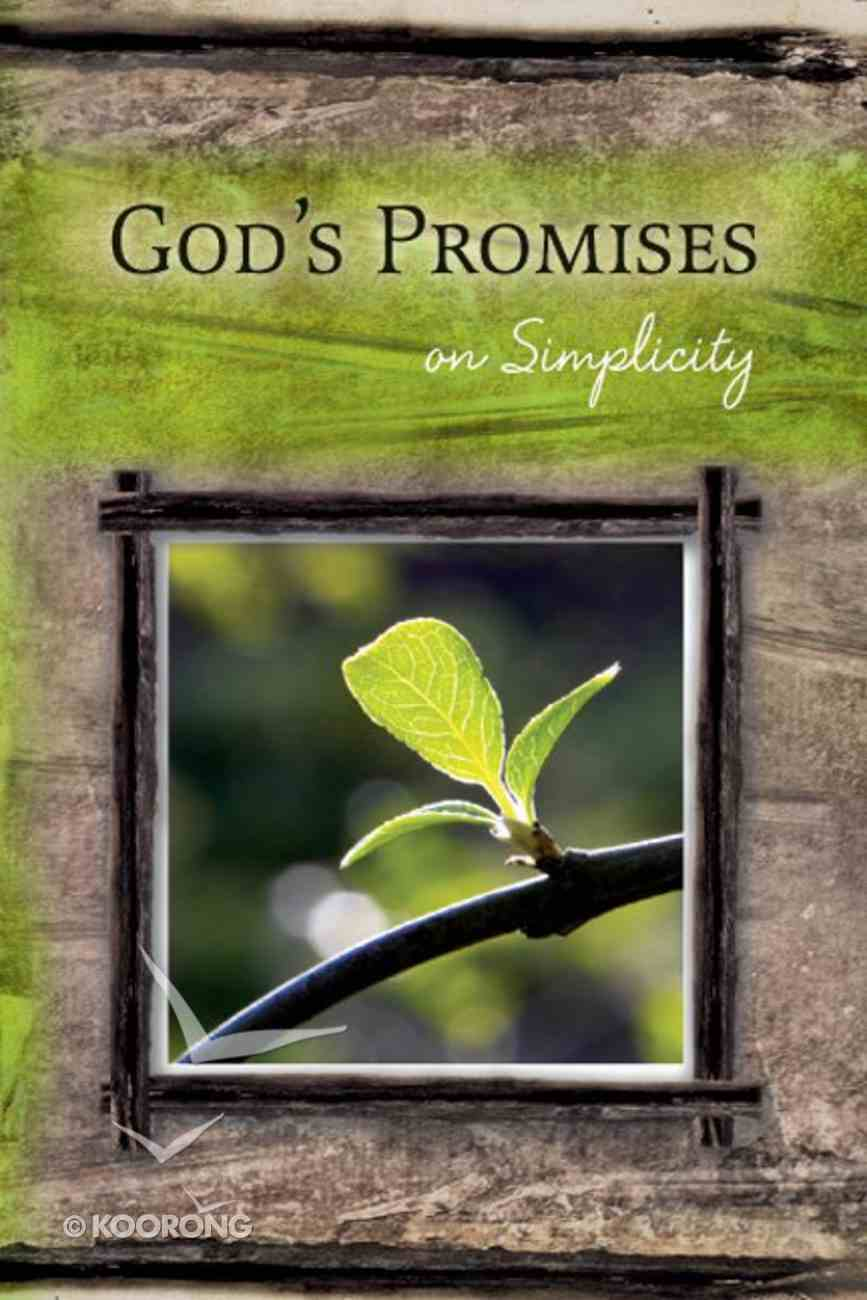 God's Promises: On Simplicity Paperback
