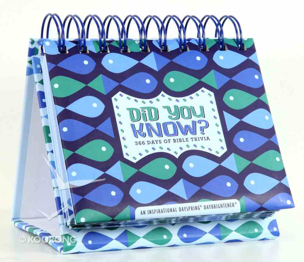 Daybrighteners: Did You Know, 365 Days of Bible Trivia (Padded Cover) Spiral