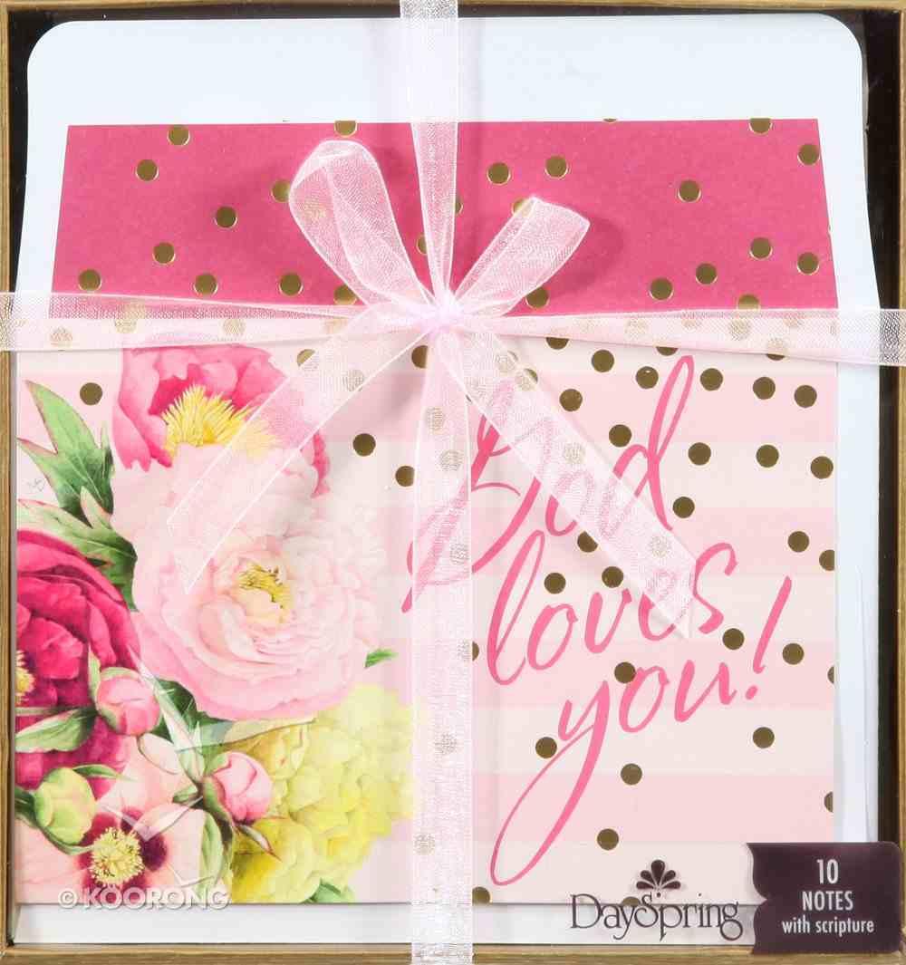 Blank Premium Note Set: Marjolein Bastin Nature's Blessings - God Loves You! Stationery