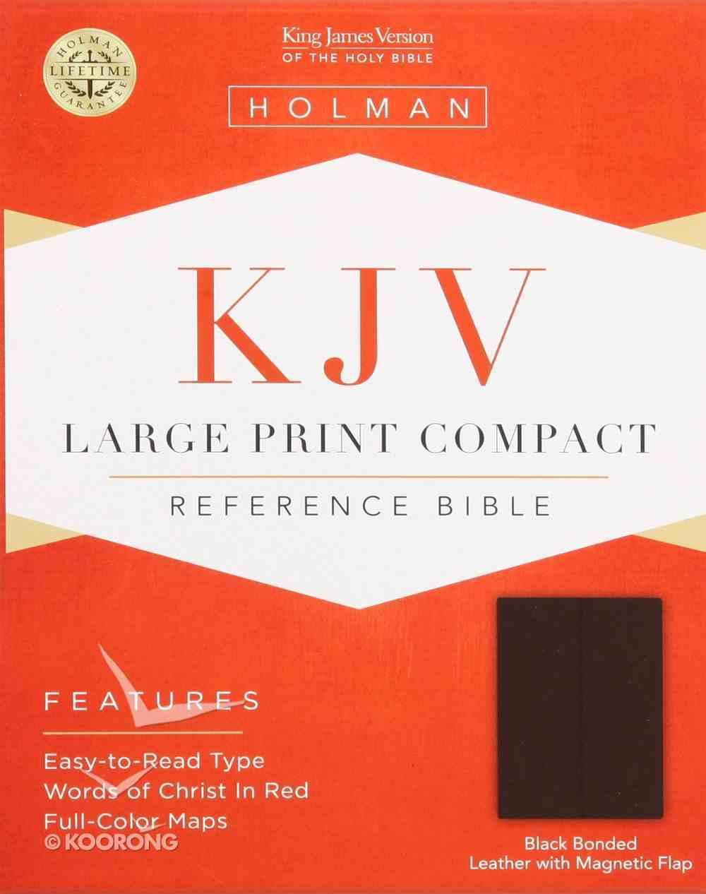 KJV Large Print Compact Black Magnetic Flap (Red Letter Edition) Bonded Leather