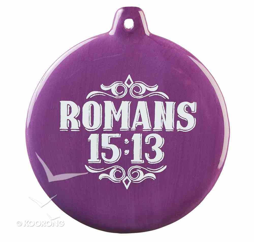 Hand-Drawn Art Ornaments: Peace and Joy (Purple) Homeware