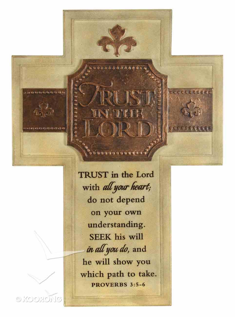 Wall Cross: Trust in the Lord Large (36cm X 26cm) Plaque
