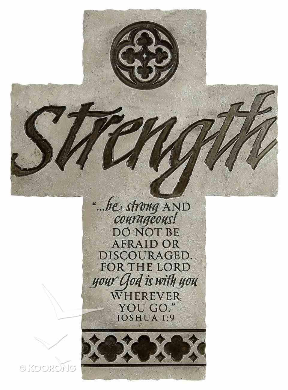 Wall Cross: Strength Large (36cm X 26cm) Plaque