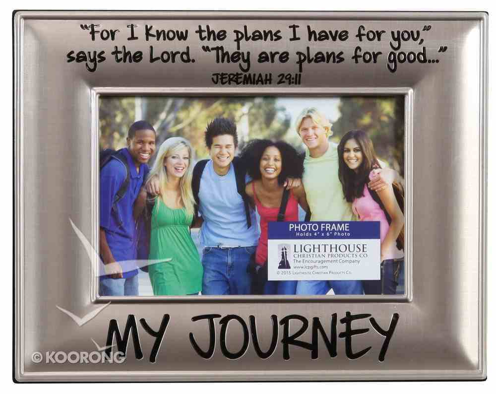 Photo Frame Beveled Metal: My Journey (Colossians 3:14) Homeware