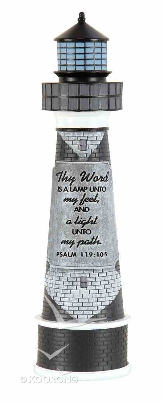 Lighthouse Moments of Faith Sculpture: Thy Word is a Lamp (Psalm 119:105) Homeware