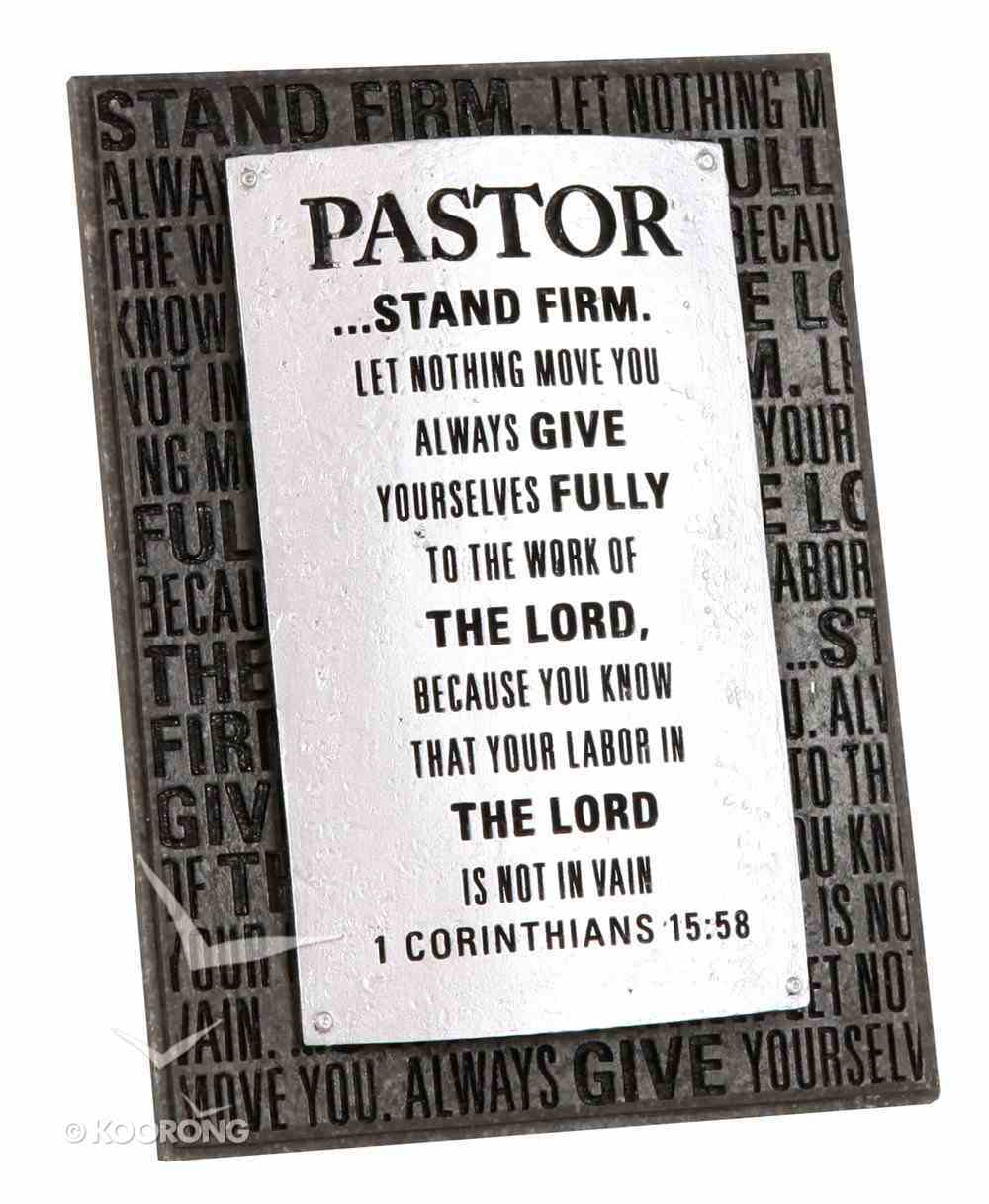 Plaque: Pastor Badge of Faith (7cm X 12cm) Plaque